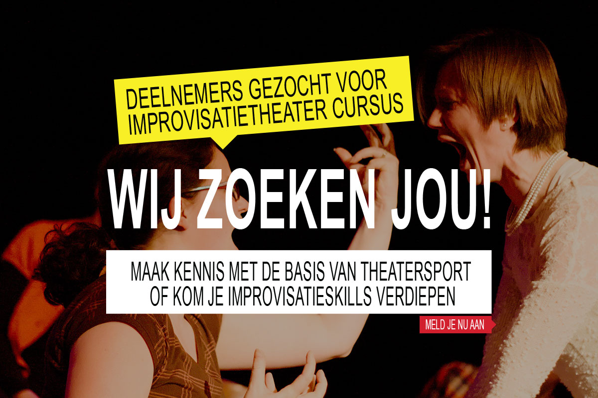 Aanmelding Improvisatietheater Cursus